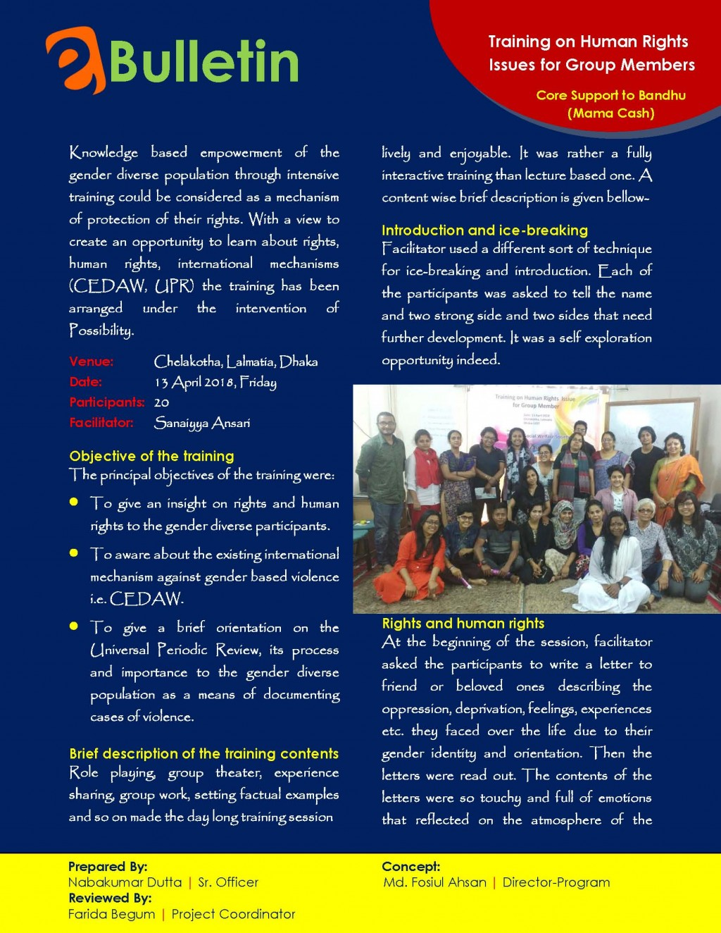 E-bulletin on training on human rights, CEDW, UPR_Page_1