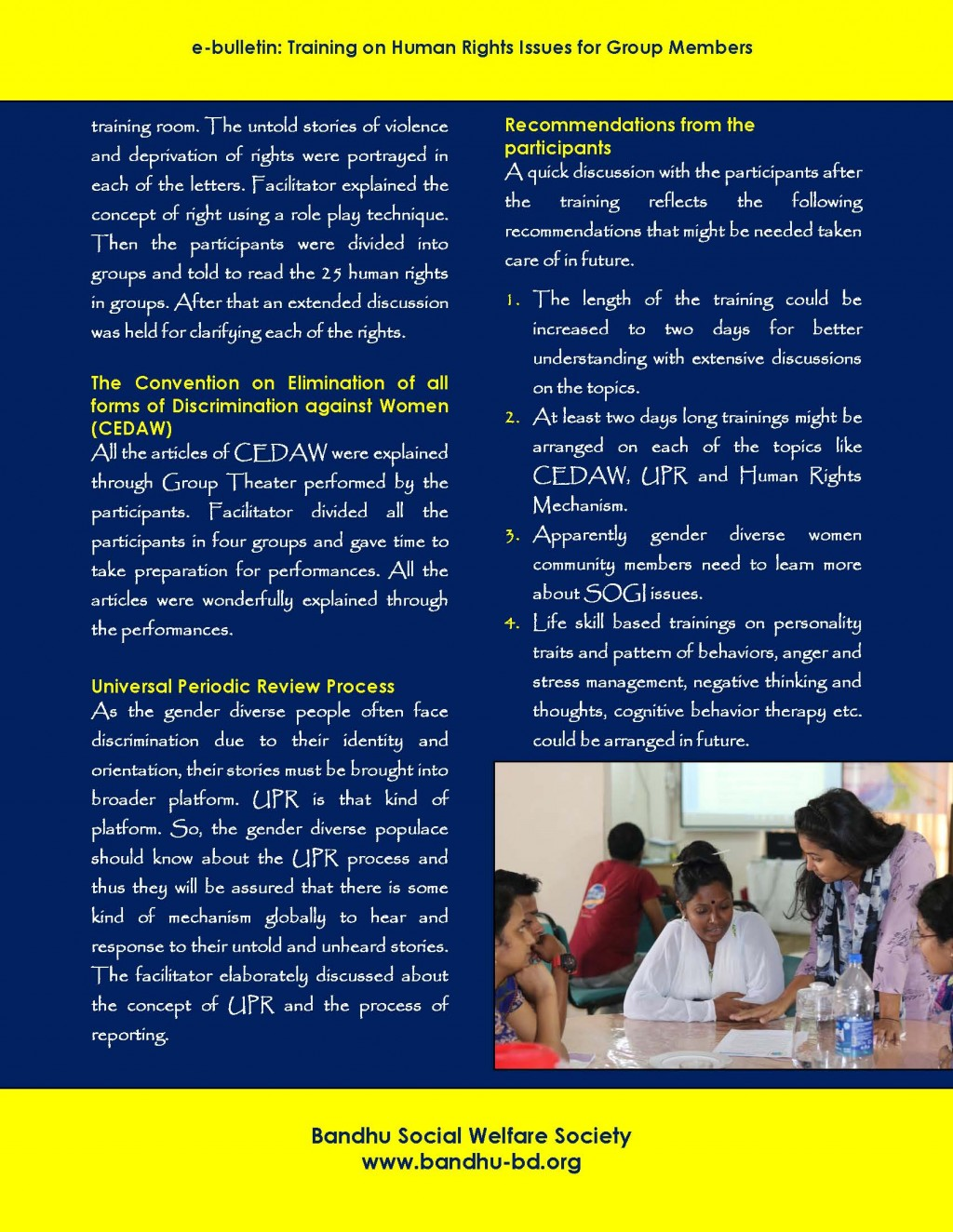 E-bulletin on training on human rights, CEDW, UPR_Page_2