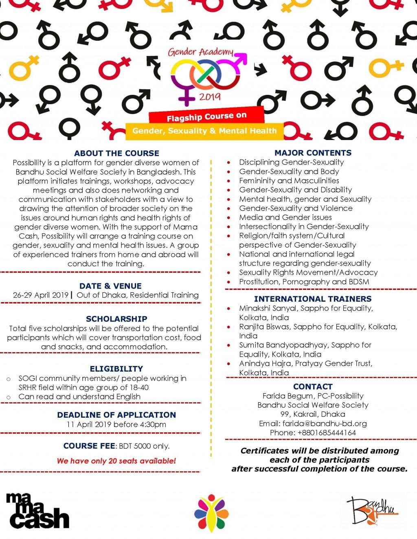 Flyer for Gender Academy_2019